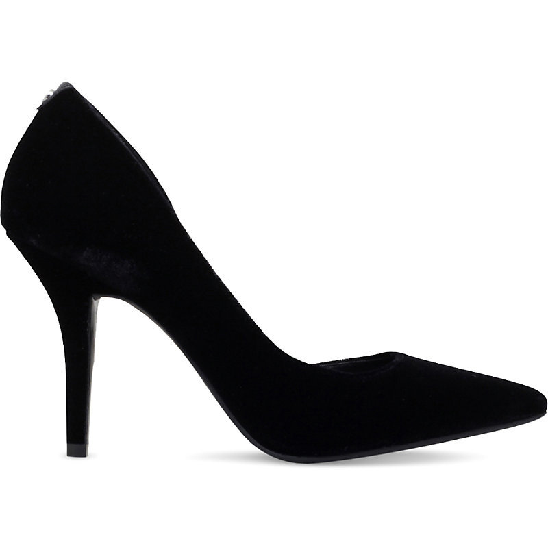 Nathalie Cutout Velvet Court Shoes, Women's, Eur 36 / 3 Uk Women, Black - predominant colour: black; occasions: evening, occasion; material: velvet; heel height: high; heel: stiletto; toe: pointed toe; style: courts; finish: plain; pattern: plain; season: a/w 2016; wardrobe: event; trends: velvet