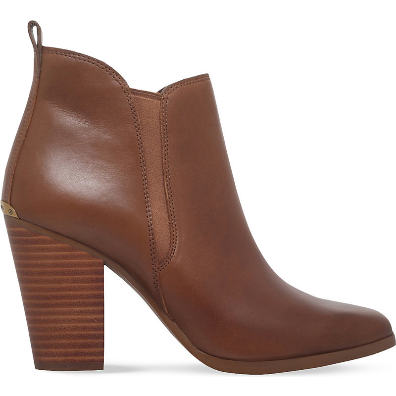 Brandy Leather Ankle Boots, Women's, Eur 41 / 8 Uk Women, Grey - predominant colour: tan; occasions: evening, work, creative work; material: leather; heel height: high; embellishment: elasticated; heel: block; toe: round toe; boot length: ankle boot; style: standard; finish: plain; pattern: plain; season: a/w 2016; wardrobe: highlight