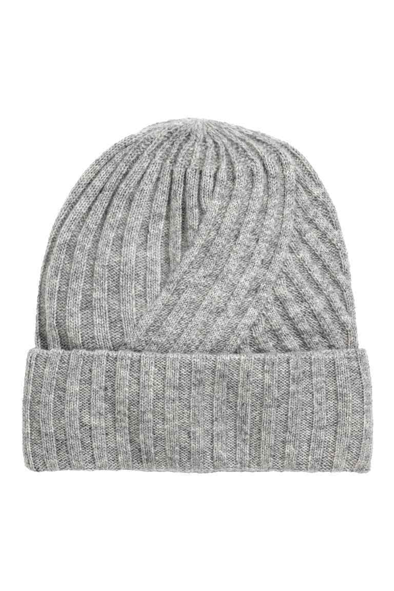 Cashmere Hat - predominant colour: mid grey; occasions: casual; type of pattern: standard; style: beanie; size: standard; material: knits; pattern: plain; season: a/w 2016