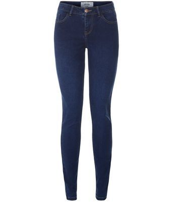 Dark Blue Supersoft Super Skinny Jeans - style: skinny leg; length: standard; pattern: plain; pocket detail: traditional 5 pocket; waist: mid/regular rise; predominant colour: navy; occasions: casual; fibres: cotton - stretch; texture group: denim; pattern type: fabric; wardrobe: basic; season: a/w 2016