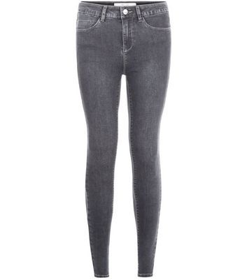 Dark Grey Supersoft Super Skinny Jeans - style: skinny leg; length: standard; pattern: plain; pocket detail: traditional 5 pocket; waist: mid/regular rise; predominant colour: mid grey; occasions: casual; fibres: cotton - stretch; texture group: denim; pattern type: fabric; season: a/w 2016; wardrobe: highlight