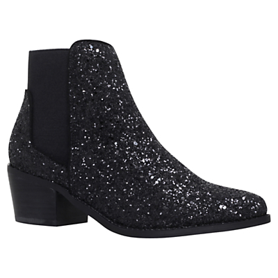 Spider Suede Ankle Boots - predominant colour: black; occasions: casual, creative work; material: suede; heel height: flat; embellishment: glitter; heel: block; toe: round toe; boot length: ankle boot; style: standard; finish: metallic; pattern: plain; season: a/w 2016; wardrobe: highlight