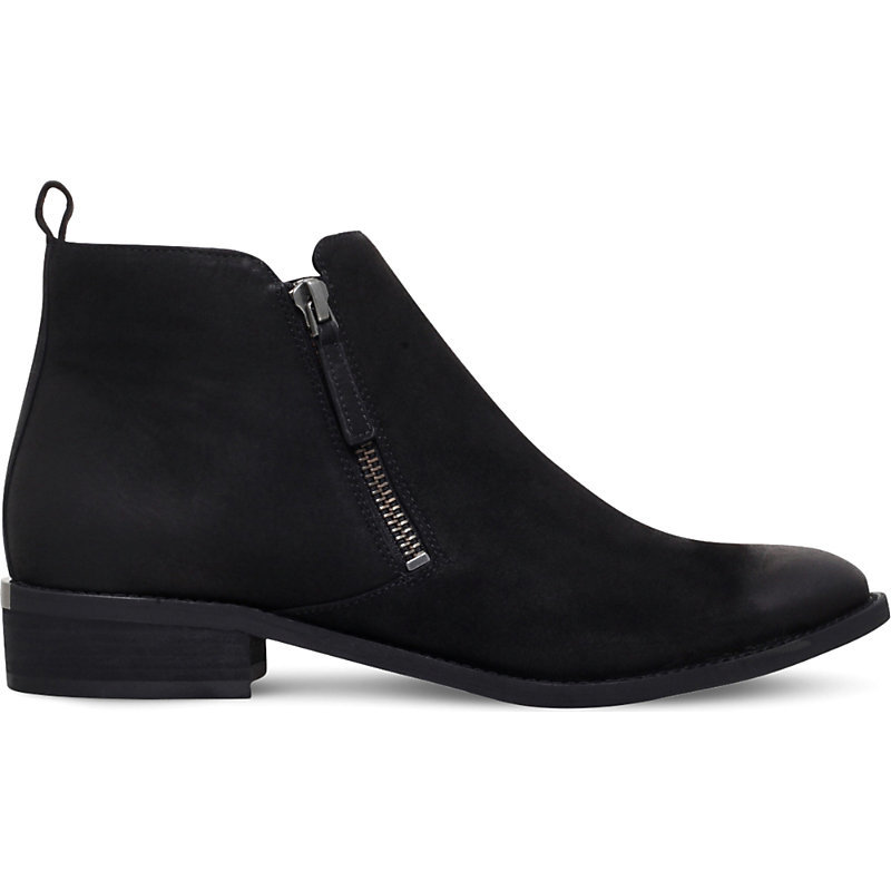 Denver Leather Ankle Boots, Women's, Eur 35 / 2 Uk Women, Black - predominant colour: black; occasions: casual, work, creative work; material: leather; heel height: flat; embellishment: zips; heel: standard; toe: round toe; boot length: ankle boot; style: standard; finish: plain; pattern: plain; season: a/w 2016; wardrobe: highlight