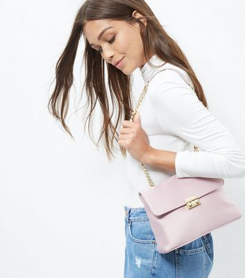 Oatmeal Sateen Chain Shoulder Bag - predominant colour: blush; secondary colour: gold; type of pattern: standard; style: shoulder; length: shoulder (tucks under arm); size: small; material: satin; pattern: plain; finish: plain; embellishment: chain/metal; occasions: creative work; season: a/w 2016; wardrobe: highlight
