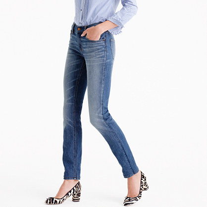 Matchstick Jean In Stockdale Wash - style: straight leg; length: standard; pattern: plain; pocket detail: traditional 5 pocket; waist: mid/regular rise; predominant colour: denim; occasions: casual; fibres: cotton - stretch; jeans detail: whiskering, washed/faded; texture group: denim; pattern type: fabric; wardrobe: basic; season: a/w 2016