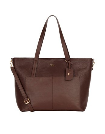 Tote Bag - predominant colour: burgundy; occasions: casual; type of pattern: standard; style: tote; length: shoulder (tucks under arm); size: standard; material: leather; pattern: plain; finish: plain; season: a/w 2016; wardrobe: highlight