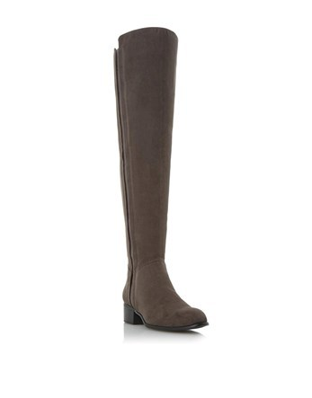 Over Knee Boots - predominant colour: chocolate brown; occasions: casual, creative work; material: suede; heel height: mid; heel: block; toe: round toe; boot length: over the knee; style: standard; finish: plain; pattern: plain; wardrobe: investment; season: a/w 2016