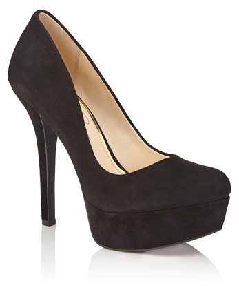 Courts - predominant colour: black; occasions: evening, occasion; material: suede; heel: stiletto; toe: pointed toe; style: courts; finish: plain; pattern: plain; heel height: very high; season: a/w 2016; wardrobe: event
