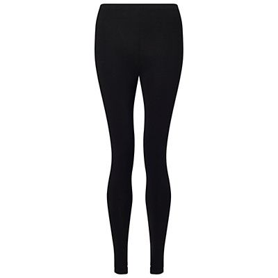 Leggings, Black - length: standard; pattern: plain; style: leggings; waist: mid/regular rise; predominant colour: black; occasions: casual; fibres: cotton - stretch; texture group: jersey - clingy; fit: skinny/tight leg; pattern type: fabric; wardrobe: basic; season: a/w 2016
