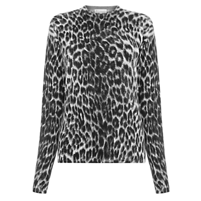Animal Print Jumper - neckline: high neck; style: standard; secondary colour: ivory/cream; predominant colour: black; occasions: casual, creative work; length: standard; fibres: cotton - mix; fit: standard fit; sleeve length: long sleeve; sleeve style: standard; texture group: knits/crochet; pattern type: knitted - fine stitch; pattern size: standard; pattern: animal print; multicoloured: multicoloured; season: a/w 2016; wardrobe: highlight