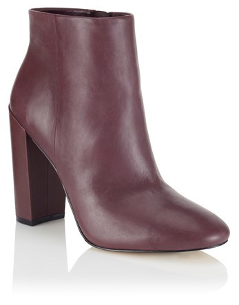 High Block Heel Leather Ankle Boots - predominant colour: chocolate brown; occasions: casual; material: leather; heel height: high; heel: block; toe: round toe; boot length: ankle boot; style: standard; finish: plain; pattern: plain; season: a/w 2016