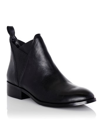 Leather Chelsea Boots - predominant colour: black; occasions: casual; material: leather; heel height: flat; heel: block; toe: round toe; boot length: ankle boot; finish: plain; pattern: plain; style: chelsea; wardrobe: basic; season: a/w 2016