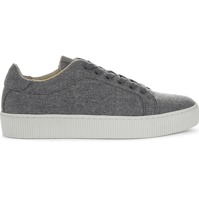 Aerien Flannel Lace Up Trainers, Women's, Eur 38 / 5 Uk Women, Gris Chine - predominant colour: mid grey; occasions: casual; material: fabric; heel height: flat; toe: round toe; style: trainers; finish: plain; pattern: plain; shoe detail: platform; season: a/w 2016; wardrobe: highlight