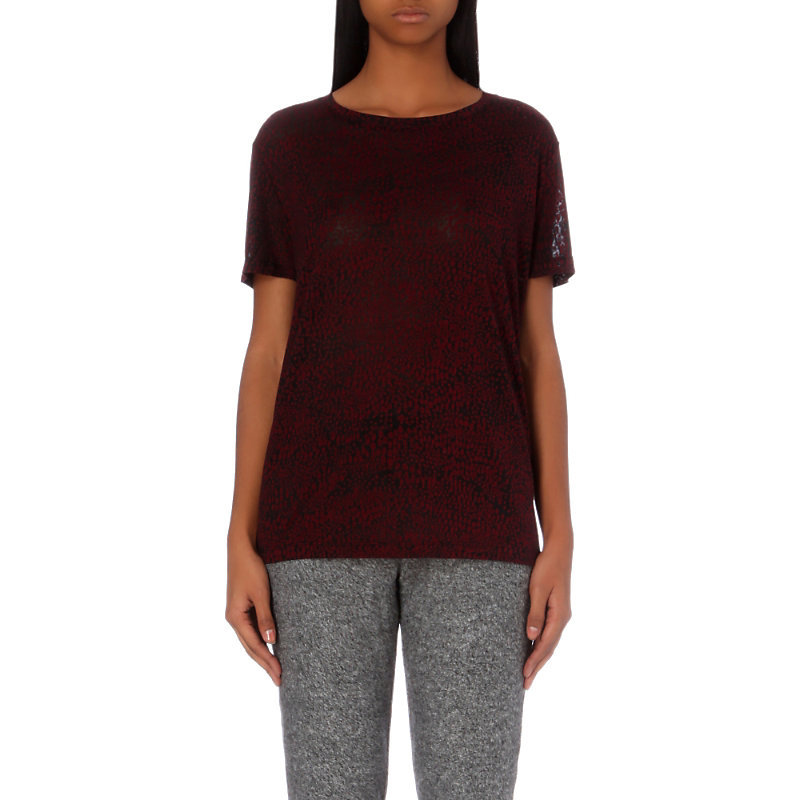 Scale Silkscreen Jersey T Shirt, Women's, Size: Medium, Maroon/Black - neckline: round neck; pattern: plain; length: below the bottom; style: t-shirt; predominant colour: purple; occasions: casual, creative work; fibres: polyester/polyamide - mix; fit: body skimming; sleeve length: short sleeve; sleeve style: standard; pattern type: fabric; texture group: jersey - stretchy/drapey; season: a/w 2016