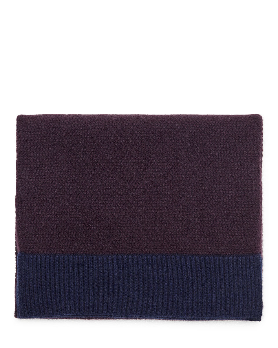 Savannah Cashmere Scarf - predominant colour: purple; secondary colour: navy; occasions: casual; type of pattern: standard; style: regular; size: standard; pattern: plain; material: cashmere; season: a/w 2016; wardrobe: highlight