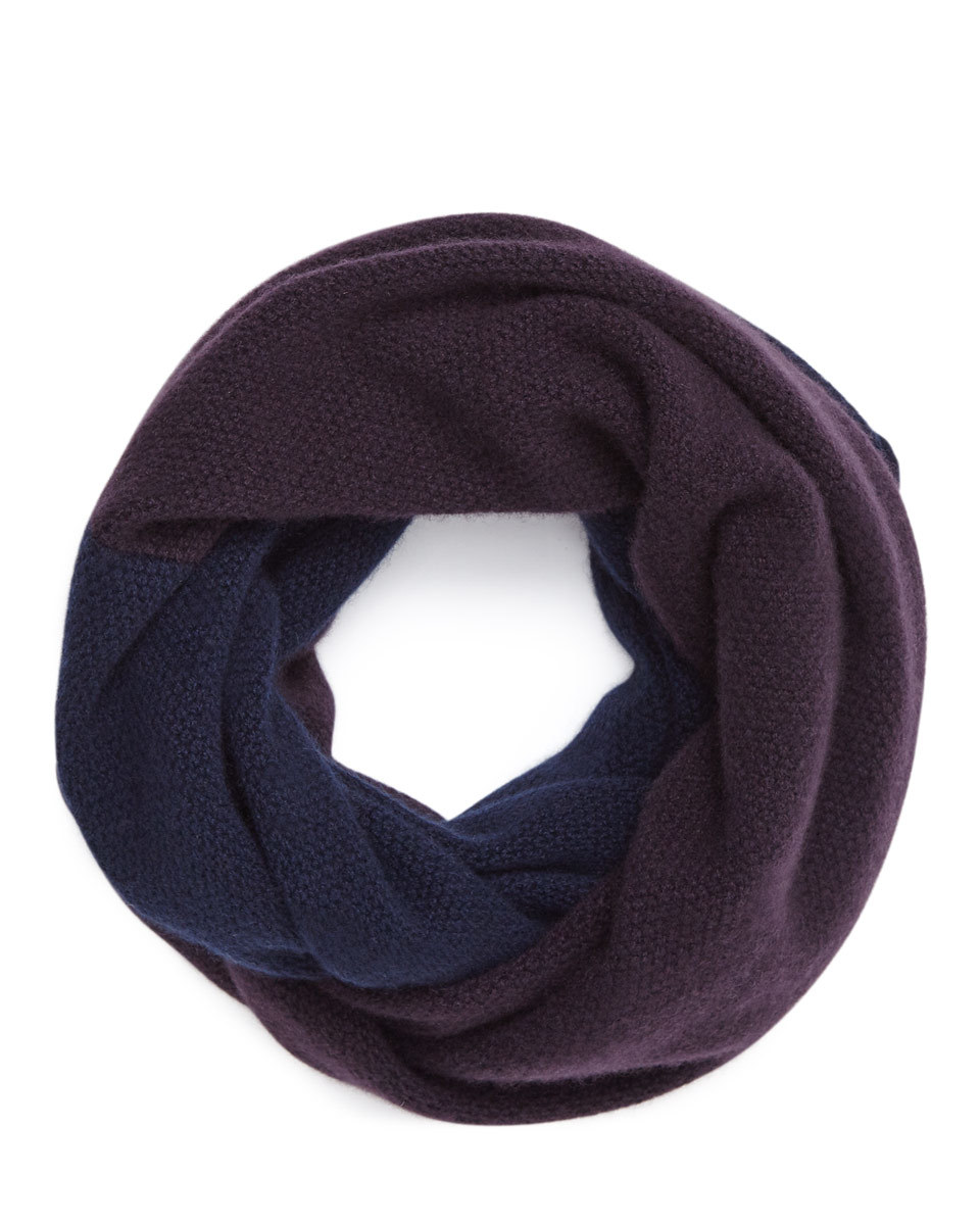 Savannah Cashmere Snood - predominant colour: aubergine; occasions: casual; type of pattern: standard; style: snood; size: standard; pattern: plain; material: cashmere; multicoloured: multicoloured; season: a/w 2016; wardrobe: highlight