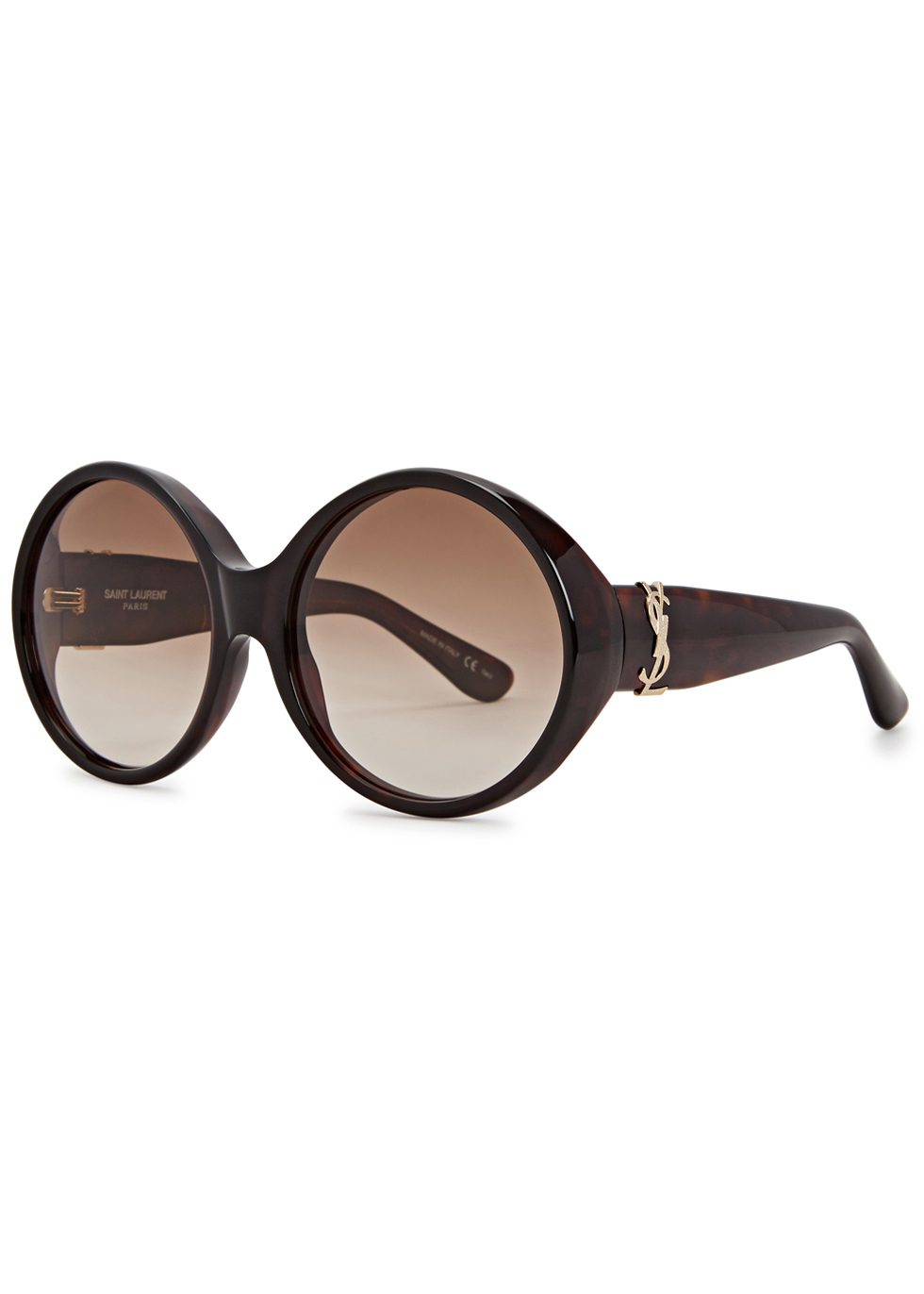Sl M1 Oversized Round Frame Sunglasses - predominant colour: chocolate brown; occasions: casual, holiday; style: round; size: large; material: plastic/rubber; pattern: plain; finish: plain; season: a/w 2016