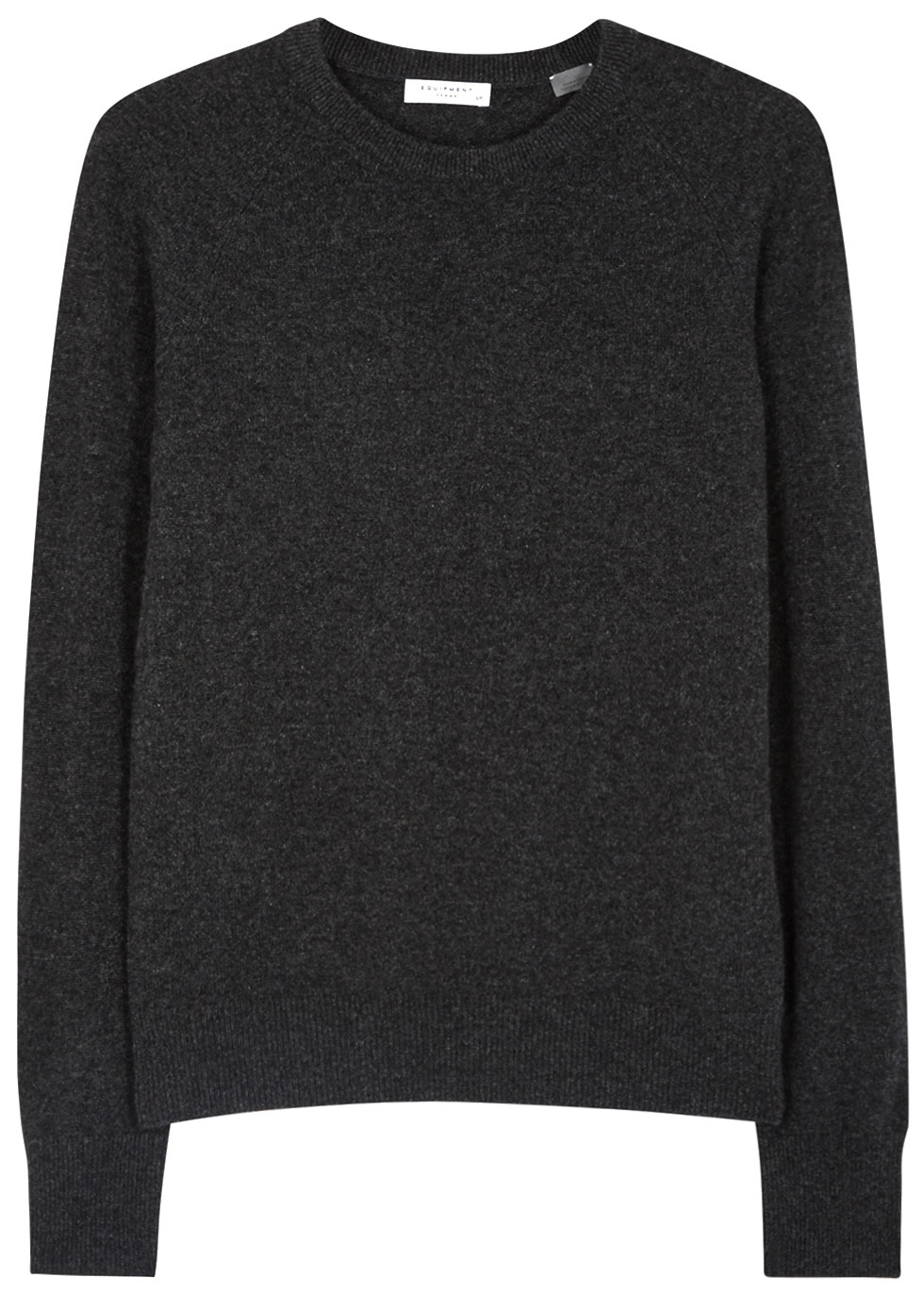 Sloane Charcoal Cashmere Jumper - neckline: round neck; pattern: plain; style: standard; predominant colour: charcoal; occasions: casual, work, creative work; length: standard; fit: standard fit; fibres: cashmere - 100%; sleeve length: long sleeve; sleeve style: standard; texture group: knits/crochet; pattern type: knitted - fine stitch; wardrobe: investment; season: a/w 2016