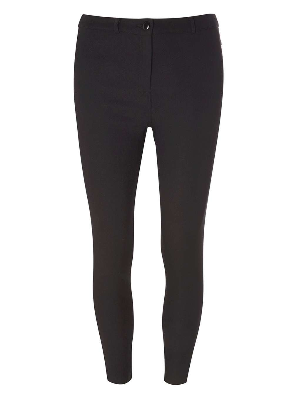 Womens Black Textured Bengaline Trousers Black - length: standard; pattern: plain; waist: mid/regular rise; predominant colour: black; occasions: casual, creative work; texture group: jersey - clingy; fit: skinny/tight leg; pattern type: fabric; style: standard; fibres: viscose/rayon - mix; season: a/w 2016