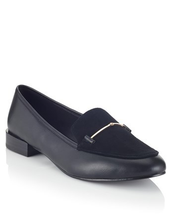Dandy Suede Loafers - predominant colour: black; occasions: casual; material: suede; heel height: flat; toe: round toe; style: loafers; finish: plain; pattern: plain; wardrobe: basic; season: a/w 2016