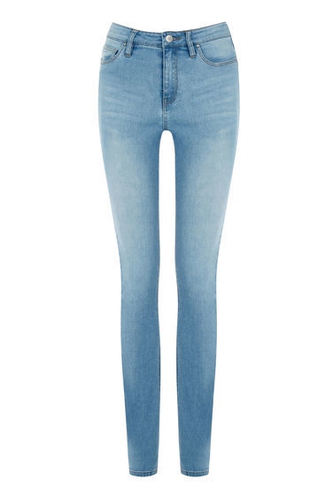 Powerhold Skinny Cut Jeans - style: skinny leg; length: standard; pattern: plain; waist: mid/regular rise; predominant colour: denim; occasions: casual; fibres: cotton - stretch; texture group: denim; pattern type: fabric; wardrobe: basic; season: s/s 2017