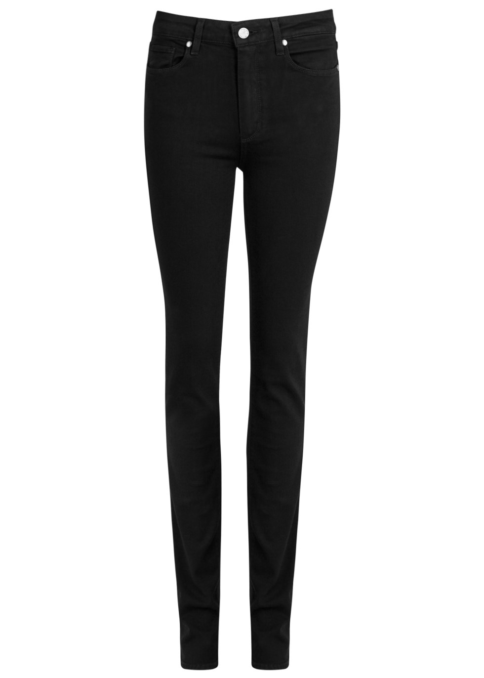 Hoxton Black Transcend Slim Leg Jeans Size W32 - style: skinny leg; length: standard; pattern: plain; pocket detail: traditional 5 pocket; waist: mid/regular rise; predominant colour: black; occasions: casual, evening, creative work; fibres: cotton - stretch; texture group: denim; pattern type: fabric; wardrobe: basic; season: s/s 2017