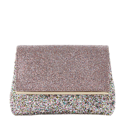 Beautify Clutch Bag, Multi - secondary colour: pink; predominant colour: silver; occasions: evening, occasion; type of pattern: standard; style: clutch; length: hand carry; size: standard; material: fabric; embellishment: glitter; pattern: plain; finish: metallic; multicoloured: multicoloured; wardrobe: event; season: s/s 2017