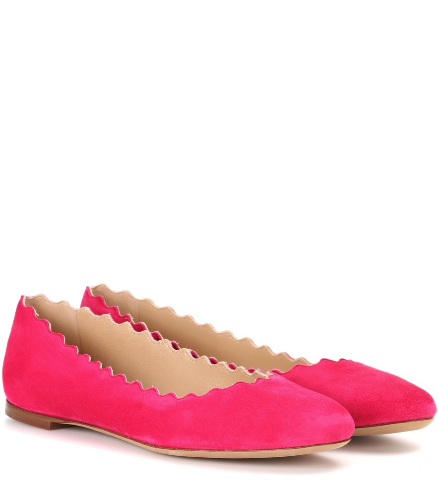 Lauren Suede Ballerinas - predominant colour: hot pink; occasions: casual; material: suede; heel height: flat; toe: round toe; style: ballerinas / pumps; finish: plain; pattern: plain; wardrobe: highlight; season: s/s 2017