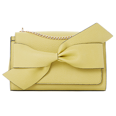 Dhloe Small Twist Knot Shoulder Bag - predominant colour: yellow; occasions: evening, creative work; type of pattern: standard; style: shoulder; length: shoulder (tucks under arm); size: small; material: faux leather; pattern: plain; finish: plain; wardrobe: highlight; season: s/s 2017