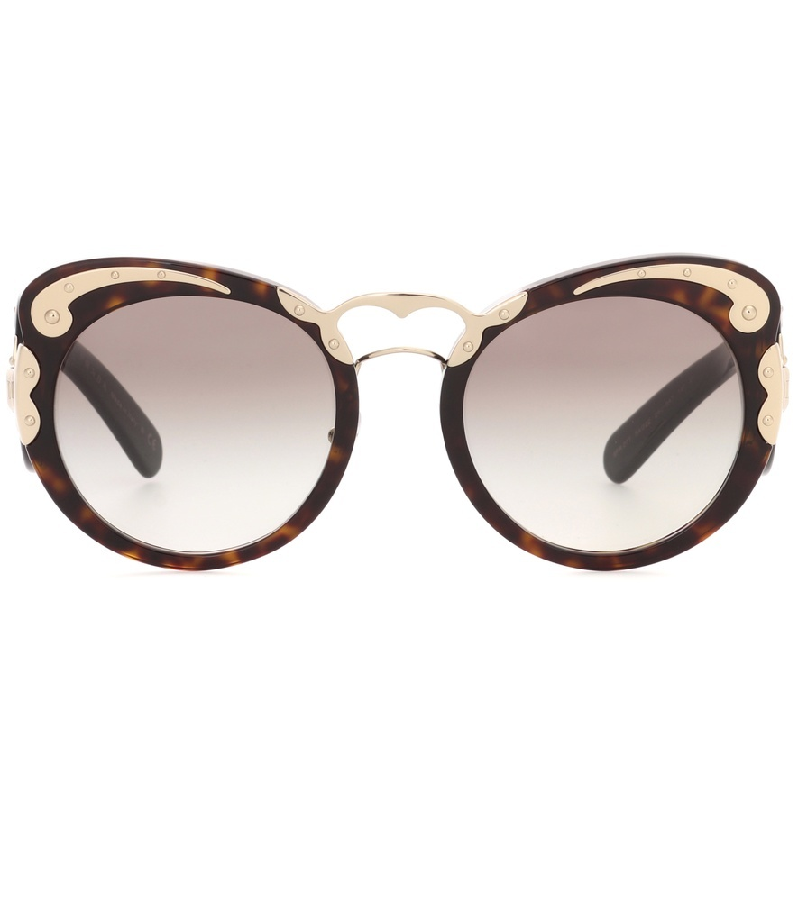 Minimal Baroque Sunglasses - predominant colour: chocolate brown; secondary colour: gold; occasions: casual, holiday; style: cateye; size: large; material: plastic/rubber; pattern: tortoiseshell; finish: plain; wardrobe: basic; season: s/s 2017