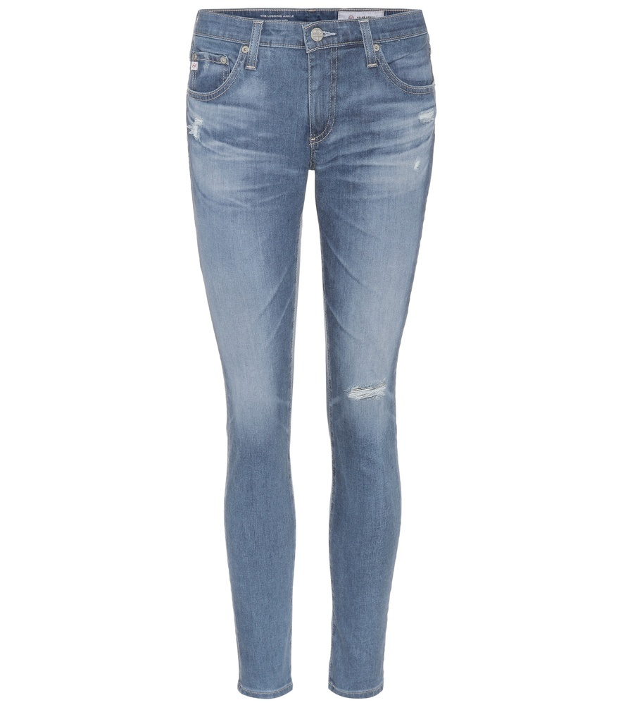 Legging Ankle Skinny Jeans - style: skinny leg; length: standard; pattern: plain; pocket detail: traditional 5 pocket; waist: mid/regular rise; predominant colour: denim; occasions: casual, evening, creative work; fibres: cotton - stretch; jeans detail: whiskering, washed/faded, rips; texture group: denim; pattern type: fabric; wardrobe: basic; season: s/s 2017