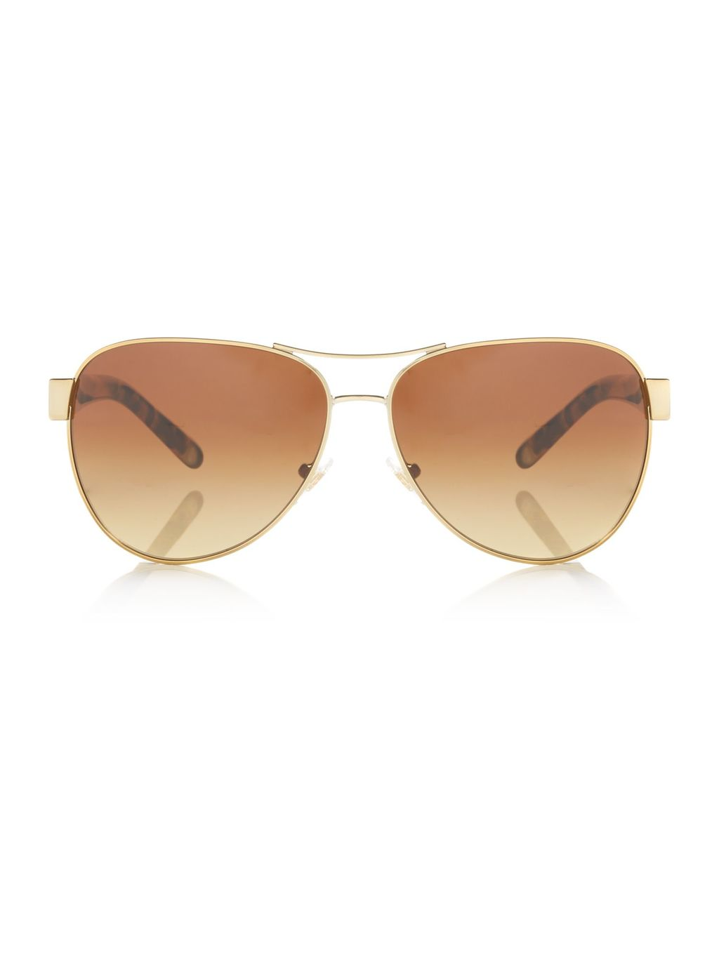 Gold Ty6051 Pilot Sunglasses - predominant colour: gold; occasions: casual, holiday; style: aviator; size: standard; material: chain/metal; pattern: plain; finish: plain; wardrobe: basic; season: s/s 2017