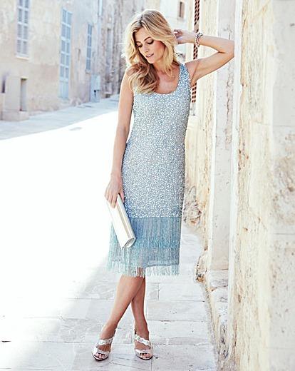 Joanna Hope Sequin Fringe Dress | J D Williams