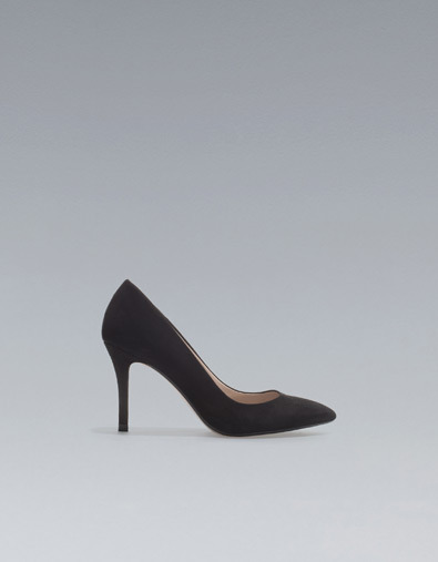 Pointed Court Shoe - predominant colour: black; occasions: evening, work; material: suede; heel height: high; heel: stiletto; toe: pointed toe; style: courts; season: a/w 2012