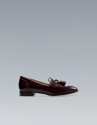 Antik Studded Moccasin - predominant colour: burgundy; occasions: casual, work; material: faux leather; heel height: flat; embellishment: tassels; toe: round toe; style: loafers; trends: deep tones; season: a/w 2012