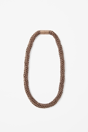 Bronze Tube Necklace - predominant colour: bronze; occasions: casual, evening, work, occasion; length: mid; size: large/oversized; material: chain/metal; finish: metallic; season: a/w 2012; style: chain (no pendant)
