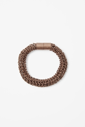 Bronze Tube Bracelet - predominant colour: bronze; occasions: casual, work, occasion; style: chain; size: standard; material: chain/metal; season: a/w 2012