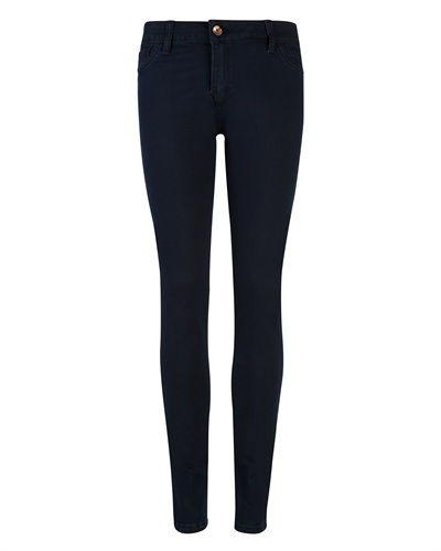 Ted Baker Revrcy Reversible Jeans - style: skinny leg; length: standard; pattern: plain; pocket detail: traditional 5 pocket; waist: mid/regular rise; secondary colour: navy; predominant colour: black; occasions: casual, evening, work; fibres: cotton - stretch; jeans detail: dark wash; texture group: denim; pattern type: fabric; season: a/w 2012