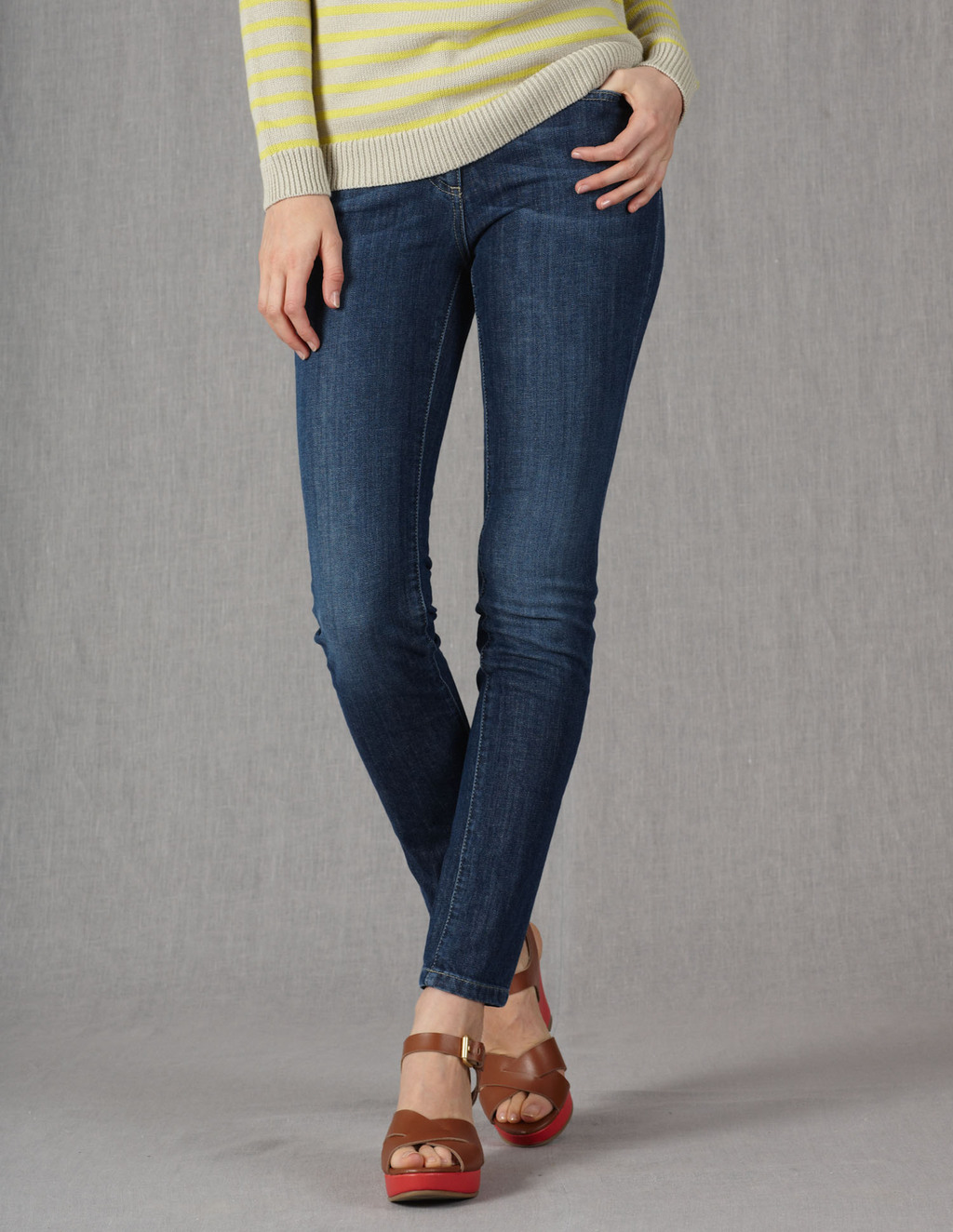 Skinny Ankle Skimmer Jeans - style: skinny leg; pattern: plain; pocket detail: traditional 5 pocket; waist: mid/regular rise; predominant colour: denim; occasions: casual; length: ankle length; fibres: cotton - stretch; texture group: denim; pattern type: fabric; season: s/s 2013