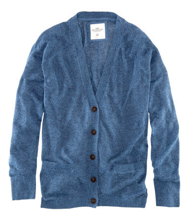 Cardigan - neckline: low v-neck; length: below the bottom; predominant colour: denim; occasions: casual; style: standard; fibres: linen - mix; fit: loose; sleeve length: long sleeve; sleeve style: standard; texture group: knits/crochet; pattern type: fabric; pattern size: standard; season: a/w 2012