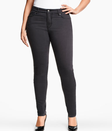 + Jeans - style: skinny leg; length: standard; pattern: plain; pocket detail: small back pockets, pockets at the sides, traditional 5 pocket; waist: mid/regular rise; predominant colour: black; occasions: casual, evening, work; fibres: cotton - stretch; texture group: denim; season: a/w 2012; pattern size: standard (bottom)