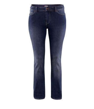 + Jeans - length: standard; pattern: plain; pocket detail: small back pockets, pockets at the sides, traditional 5 pocket; style: slim leg; waist: mid/regular rise; predominant colour: navy; occasions: casual; fibres: cotton - stretch; jeans detail: shading down centre of thigh, washed/faded; texture group: denim; pattern type: fabric; season: a/w 2012; pattern size: standard (bottom)
