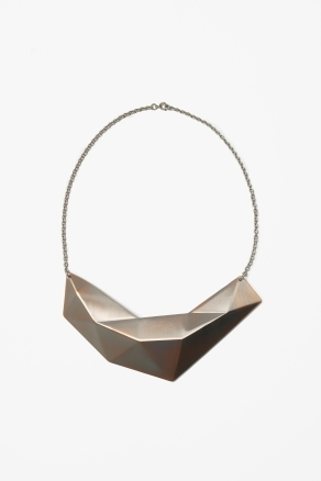 Metal Plate Necklace - predominant colour: gold; occasions: casual, evening, work, occasion, holiday; length: short; size: large/oversized; material: chain/metal; finish: metallic; style: bib/statement; season: a/w 2012
