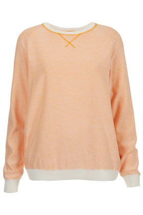 Knitted Fluro Stitch Sweat - pattern: plain; style: standard; predominant colour: nude; occasions: casual; length: standard; fibres: acrylic - mix; fit: standard fit; neckline: crew; sleeve length: long sleeve; sleeve style: standard; texture group: knits/crochet; trends: fluorescent; pattern type: knitted - other; season: a/w 2012