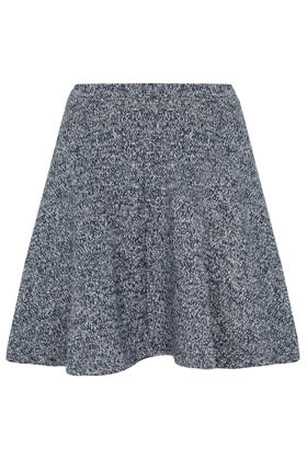 Loop Back Skater Skirt - length: mini; pattern: plain; fit: body skimming; waist detail: elasticated waist; waist: high rise; predominant colour: mid grey; occasions: casual, evening, work; style: fit & flare; fibres: acrylic - mix; pattern type: fabric; texture group: other - stretchy; season: a/w 2012; pattern size: standard (bottom)