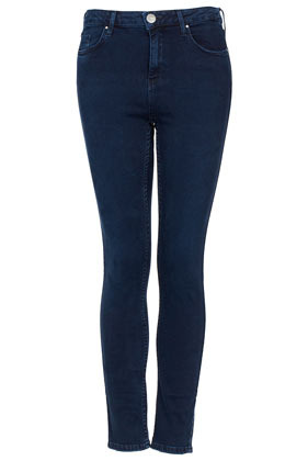 Moto Indigo Jamie Jeans - style: skinny leg; pattern: plain; pocket detail: traditional 5 pocket; waist: mid/regular rise; predominant colour: navy; occasions: casual; length: ankle length; fibres: cotton - stretch; jeans detail: dark wash; texture group: denim; pattern type: fabric; season: a/w 2012