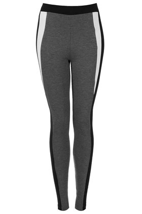 Block Colour Ponte Leggings - length: standard; style: leggings; waist: mid/regular rise; predominant colour: charcoal; occasions: casual; fibres: polyester/polyamide - stretch; texture group: jersey - clingy; fit: skinny/tight leg; pattern type: fabric; pattern: colourblock; season: a/w 2012; pattern size: standard (bottom)
