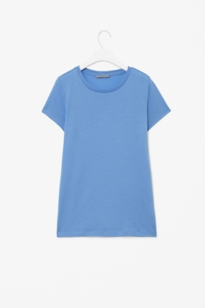 Capped Sleeve T Shirt - neckline: round neck; sleeve style: capped; pattern: plain; style: t-shirt; predominant colour: royal blue; occasions: casual, work; length: standard; fibres: cotton - mix; fit: straight cut; sleeve length: short sleeve; pattern type: fabric; pattern size: standard; texture group: jersey - stretchy/drapey; season: a/w 2012