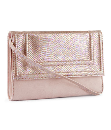 Clutch - predominant colour: blush; occasions: evening, occasion; type of pattern: light; style: clutch; length: hand carry; size: small; material: faux leather; pattern: animal print, plain; trends: metallics; finish: metallic; season: a/w 2012