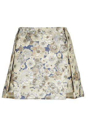Floral Jacquard Origami Skirt - length: mid thigh; fit: loose/voluminous; hip detail: draws attention to hips, adds bulk at the hips; waist: mid/regular rise; predominant colour: ivory/cream; occasions: casual, evening, occasion; style: a-line; fibres: cotton - mix; texture group: cotton feel fabrics; trends: high impact florals; pattern type: fabric; pattern: florals; season: a/w 2012; pattern size: big & busy (bottom)